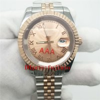 Wholesale Gold Bracelet Color Glass - Mens luxury watch DATE auto wristwatch RO LEX 39mm size rose gold dial sapphire glass stainless steel bracelet aaa watches 261