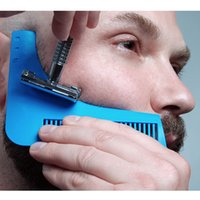 Wholesale new hair cutting men online - NEW Beard Shaping Tool Sex Man Gentleman Beard Trim Template Hair Cut Molding Trim Template Beard Modelling Tools Blue Black