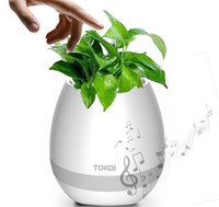 Wholesale flower play - TOKQI Bluetooth Smart Touch Music Flowerpots Plant Piano Music Playing K3 Wireless Flowerpot(whitout Plants)