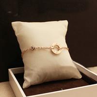 ingrosso un braccialetto di fascino-Nuovo arrivo Top acciaio inossidabile 316L UN anello e braccialetto a catena di diamanti per gli amanti dei regali di nozze di donne Spedizione gratuita PS5291