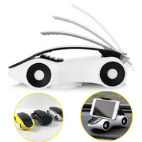 Wholesale Iphone Sports Car - phone holder for smartphone iPhone 7 7 plus Samsung s8 Sports Car Model 360 Degrees Rotating Car phone Holder Desktop phone stand
