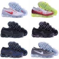 Wholesale Day Night Tops - (With Box) VAPORMAXES 2018 MEN Running Shoes Day to Night Dark Grey Triple Blackm Mens Sport Shoes Man Training Shoes Top Quality EUR 36-46