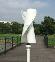 Wholesale 600W V V Vertical Axis Helix Residentail Home Wind Turbine generator Kit Aerogenerator Low RPM Generator m s Start Up Wind