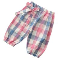 Wholesale Clothes Boots For Kids - Kids Pants Plaid Striped Patchwork Dot Print Knickers Unisx Pretty Children Trousers for Summer Wear Clothing