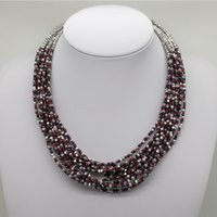 Wholesale Wholesale Seed Bead Fashion Necklace - 2017 New Desgin Bohemian Red Seed Bead Choker Necklace Women Fashion Handmade Multi layer Beaded Statement Necklaces Fine Jewelry DHL Ship