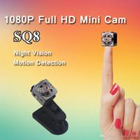 en iyi gece görüşü toptan satış-En iyi SQ8 Mini DV Kamera 720 P 1080 P HD Kamera Ses Video Kaydedici kızılötesi Gece Görüş Dijital Spor Kamera SQ9 SQ10 Q7 F71 Satış Çok