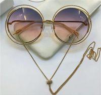 Wholesale full spiral - Fashion spiral pattern round retro frame new popular designer sunglasses light color protection decorative glasses top quality 114