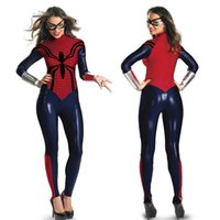 Womens Gothic Fashion Overall Catsuit Tute Playsuits Spider-Man Costume Club Wear SM88920 Taglia unica