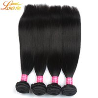 Wholesale Discount Hair Bundles - Discount Indian virgin straight hair,fast shipping 4 bundle deals unprocessed human hair weaves 400g lot by DHL free shipping