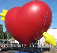 Wholesale Inflatable Hearts - 12ft giant heart shape inflatable advertising balloon event wedding decor