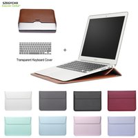 Wholesale leather laptop 17 - New Leather Mail sack Sleeve Bag Case For Macbook Air Pro Retina 11 12 13 15 Notebook Laptop Cover For Macbook 13.3 inch