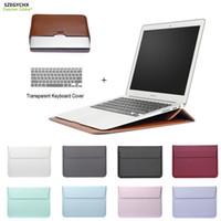 novo laptop de 17 polegadas venda por atacado-Novo saco de manga saco de couro de correio case para macbook air pro retina 11 12 13 15 tampa do laptop notebook para macbook 13.3 polegadas