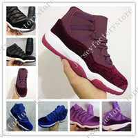 Wholesale Cheap Leather Fur Boots - With Box Cheap High top New Retro 11 White Black Dark ConcordS 11s Sports Shoe 11's Concord Mens Basketball Shoes Athletics Sneaker Boots