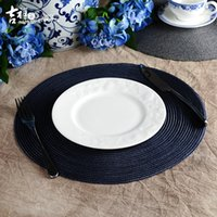 Wholesale Round Dinning Tables - Wholesale-Luckome Dinning Table Placemats Table mat Decor Accessories PVC Trivet Coaster Hot Sale Placemats for Table 4 pieces package