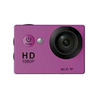 fhd ekranı toptan satış-W9 2 inç Ekran Wifi Sürümü Eylem Kamera 30 M Su Geçirmez 1080 P FHD Ekstrem Sporlar Mini DV Dalış Video kamera