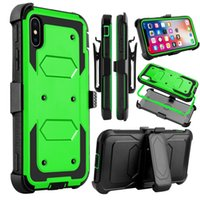Pour iphone 8 Pour iphone X Cheers boost Hybrid Armor Heavy téléphone Housse Holster Combo Shockproof Ceinture clip A