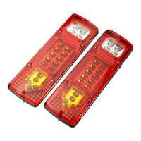 Wholesale Led Stop Tail - 2x 19-LED UTE Truck Trailer Lorry Caravan Stop Rear Tail Indicator Light Lamp