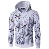 Men paint guard - New Men s cultivate one s morality and landscape painting Chinese wind d hooded zipper guard garment cap unlined upper garment to coat
