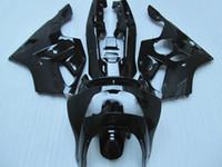 94 plásticos ninja al por mayor-Kit de carenado de plástico para Kawasaki Ninja ZX6R 1994-1997 Carenados de motocicleta negro brillante set zx6r 94 95 96 97 OT26