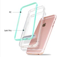 Wholesale Iphone Popular Case - Transparent popular Case For IPhone 5 6 7 Plus Case Shockproof Ultra thin Soft TPU+PC Simple stent Phone Case Cover With Free Ship