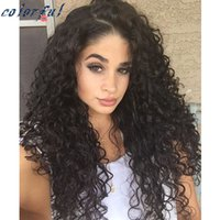 Wholesale Water Wave Lights - Best Quality 7A Virgin Brazilian Full lace human hair Wig&Glueless Full Lace Wigs Light Water Wave wigs can make high ponytail