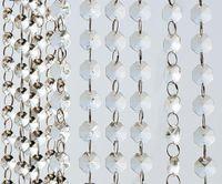acryl bäume für hochzeit dekorationen großhandel-14mm Crystal Clear Acryl hängende Perlen Kette silbrig Ring Garland Vorhang Kronleuchter Party Hochzeit Weihnachten Baum Dekoration Veranstaltung liefert