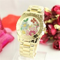 Wholesale Current Watches - Lmitation Conch Dial Ma'am Watches colorful Clock dial Quartz Watches tidal current individuality women Quartz stainless steel Watches