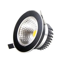 Wholesale Led Downlights Black - KEVDA COB LED Downlight Black Round Dimmable Recessed 5W 7W 9W 12W 85-265V LED Downlights for Dinning Room