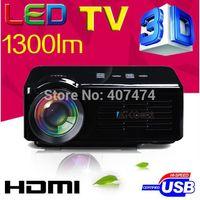 micro projecteur sd achat en gros de-Vente en gros à chaud, projecteur portable 1080P 3D LED Home Video projecteurs Projecteur HD Mini avec ports TV / AV / USB / SD / VGA / HDMI / Micro USB