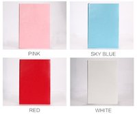 Wholesale Pink Accounting - 8 Colors Medium A5 Size (14.5cm * 21.5cm) Softcover Notebook - PU Leather - 100 Sheets Travel Journal Notepad Daily Memo for Travelers