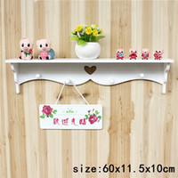 Wholesale Wooden Hanging Rack - Wholesale- 1pcs Creative Love Heart Synthetic Wooden Wall Hanger Racks Hanging Hanger Keys Carved Wooden Wall Hook Hanger Wall