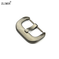 Wholesale Thick Belts Wholesale - Wholesale- ZLIMSN 20mm 24mm NEW Thick Solid Stainless Steel Watchbands Silver Brushed Watch Band Clasp Belt Buckle