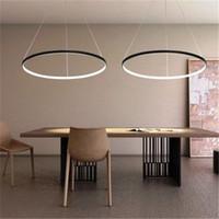 Wholesale modern lights for dining room for sale - LED cm W Pendant Light Modern Design LED RingSpecial for office Showroom Living Room v LED Ring Pendant Light