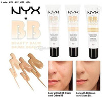 Wholesale Wholesale Makeup Body Products - NYX Concealer BB Cream 30g Moisturizing Foundation 4 Color Naked Makeup Base Isolation Body Concealer Cream Beauty Product