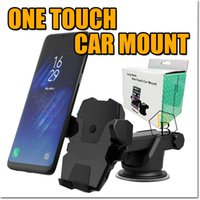 Wholesale One Touch Holder - One Touch Car Mount Universial For Iphone 7 6s Plus Long Neck Phone Holder For Samsung S8 Edge Adjustable Phone stand For SmartPhone