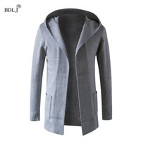 Wholesale Wholesale Long Cotton Coat Mens - Wholesale- BDLJ 2017 New Fashion Long Trench Coat Men Coats Winter Mens Overcoat Thick Coat Leisure men's long trench coats