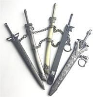 Wholesale metal swords - 7 Inch Metal wax dab tool dabber tools for glass nail quartz banger oil herb vaporizer dab tools sword style