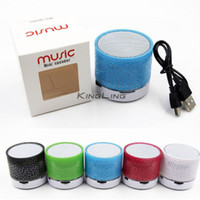 Wholesale Box For Mp3 Player - Bluetooth Speaker Outdoor Speakers Handfree Mic Stereo LED Portable Speakers TF Card Call Function DHL Free Shipping No Logo In Retail Box
