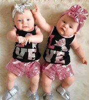 Wholesale Toddler Vests - New Baby Girls Boutique Clothes Kids Next Suit Summer Girl Clothing Set Toddler 2pcs Outfit Black Sleeveless Vest Tops Shorts Children Costu