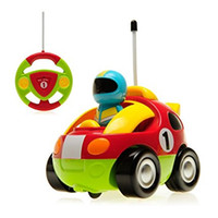 Wholesale Toddler Toys Cars Wholesale - Remote Control RC Cartoon Race Car Music Light Electric Radio Control Toy for Baby Toddlers Kids and Children
