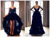 Wholesale Petal Fold - V-Neck Straps Folds Evening Dresses 2017 New Gauze Beaded Hi-Lo Lace Graduation Prom Dress Puff Skirt Sexy Pageant Dresses Plue Size