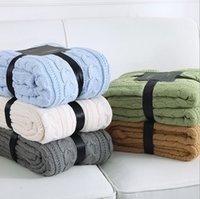 Wholesale CABLE KNIT SOFT SHEPA HOME BLANKET KIDS CHILDREN BABY SHAWLS DOUBLE LAYERS THICK DESIGN SIZE X170CM MMS