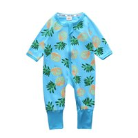 Wholesale One Piece Summer Pajamas - New Autumn 2017 Baby Boy Clothes Coveralls Toddler girl's clothing baby pajamas cotton Baby Clothing One Piece romper
