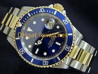 luxus blaue gesicht uhren großhandel-Armbanduhr-Uhr 05 des heißen Verkaufs der Luxusuhrmann-Edelstahluhr-Stahlarmband blauen Gesichts