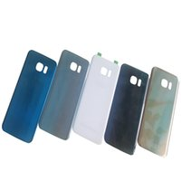 Wholesale Door Edges - For Samsung Galaxy S7 G930 S7 Edge G935 Glass Note5 N920 Battery Door Housing Back Cover Case&Logo+Sticker battery cover free shipping