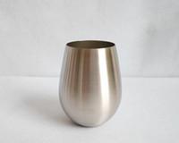 milchdekoration großhandel-304 Edelstahl Wassertropfen Rotweinglas Eierbecher Kaffee Milch Becher DE21