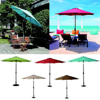 Wholesale Umbrella Market - Home & Garden Garden Buildings Aluminum Market Umbrella with Auto Tilt and Crank Popular Patio Swim Pool Tent and Outdoor Shade Umbrellas