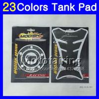 tanque yamaha r1 venda por atacado-23 cores 3D protetor de almofada de tanque de gás de fibra de carbono para yamaf yzfr1 04 05 06 yzf r1 yzf 1000 yzf1000 yzf-r1 2004 2005 2006 3d tampa do tanque adesivo