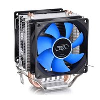 Wholesale Fan Cooler 775 - Wholesale- CPU Air Cooler Cooling Fan Double Heatpipe Radiator For Intel LGA 775 115x AMD 754 940 AM2+ AM3 FM1 FM2