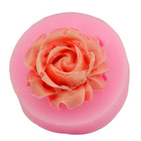 3D Rose Flower Silicone Moule Gum Paste Fondant Cake Décoration Sugarcraft Baking Tools 5pcs Free china post